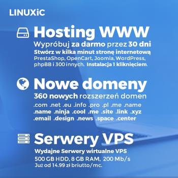 Hosting WWW, Domeny, Serwery VPS - Linuxic.com